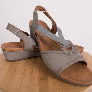 8ef08f1f Ara Shoes   Womens Sutton Grey Nubuk Sandals Wedges 105   Poshmark